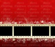 Marcos de película de la Navidad stock de ilustración