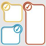 Marcos de texto con la caja de control Imágenes de archivo libres de regalías