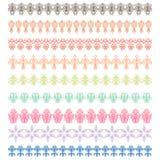 Marcos decorativos con los ornamentos Imagen de archivo libre de regalías