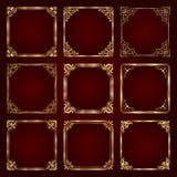 Marcos decorativos de oro del vintage - sistema del vector Fotografía de archivo libre de regalías
