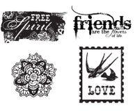 Marcos decorativos del círculo de la flor Fotos de archivo