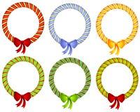 Caramelo Cane Wreath Bow Frames fotos de archivo libres de regalías