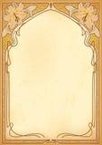 Marcos del art nouveau con el espacio para el texto. Imagen de archivo