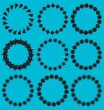 Marcos del círculo de la colección del vector Imágenes de archivo libres de regalías