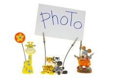 Marcos del clothespin de la foto Imagen de archivo libre de regalías