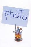 Marcos del clothespin de la foto Fotografía de archivo libre de regalías