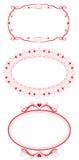 Marcos del corazón de la vendimia Imagen de archivo libre de regalías