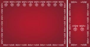 Marcos del día de tarjeta del día de San Valentín Imagen de archivo libre de regalías