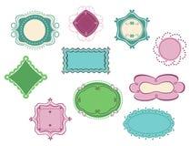 Marcos del Doodle Imagen de archivo libre de regalías