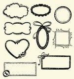 Marcos del Doodle Fotografía de archivo libre de regalías
