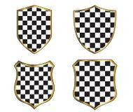 Marcos del escudo fijados en el fondo blanco Imágenes de archivo libres de regalías