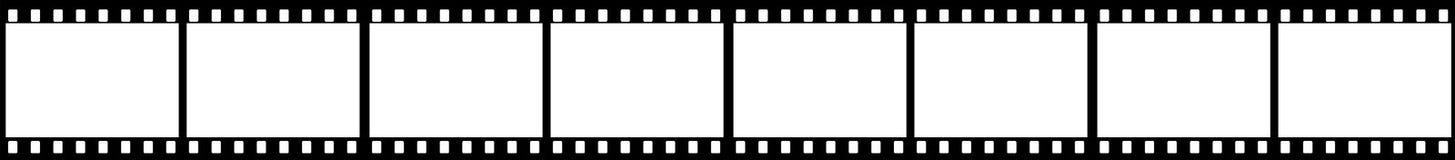 Marcos del marco de la tira de la película Imágenes de archivo libres de regalías