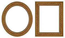 Marcos del oro Foto de archivo