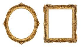 Marcos del oro imagen de archivo
