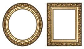 Marcos del oro Imagen de archivo libre de regalías