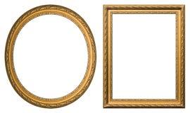 Marcos del oro Fotografía de archivo