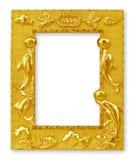 Marcos del oro Aislado en blanco Foto de archivo