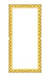 Marcos del oro Aislado en blanco Fotos de archivo