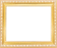 Marcos del oro Aislado en el fondo blanco Fotos de archivo