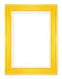 Marcos del oro Aislado en el fondo blanco Fotos de archivo libres de regalías