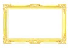 Marcos del oro Aislado en el fondo blanco Imagen de archivo