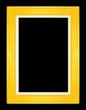 Marcos del oro Aislado en fondo negro Fotografía de archivo libre de regalías