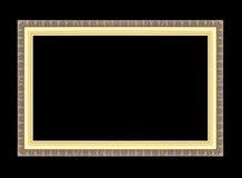 Marcos del oro Aislado en negro Imagen de archivo libre de regalías