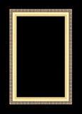 Marcos del oro Aislado en negro Imagenes de archivo