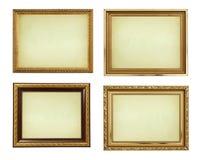 Marcos del oro del cuadro de la colección Foto de archivo libre de regalías