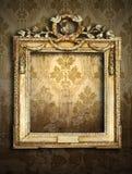 Marcos del oro, papel pintado retro Imagen de archivo libre de regalías