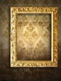 Marcos del oro, papel pintado retro Fotografía de archivo libre de regalías