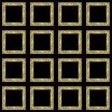 Marcos del papel pintado del nudo del mosaico Fotos de archivo libres de regalías