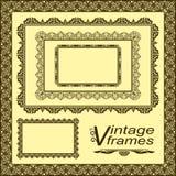Marcos del vintage - conjunto del vector. Foto de archivo libre de regalías