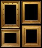 Marcos del vintage del oro Foto de archivo libre de regalías