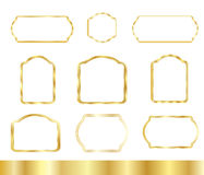 Marcos del vintage del oro fijados ilustración del vector