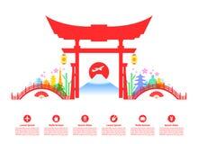 Marcos do curso de Japão Fotografia de Stock