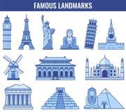 Marcos do mundo Curso e turismo Vetor Imagem de Stock