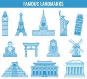 Marcos do mundo Curso e turismo Vetor Imagens de Stock