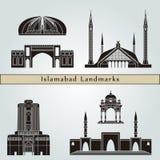 Marcos e monumentos de Islamabad fotografia de stock