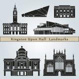Marcos e monumentos de Kingston Upon Hull ilustração royalty free