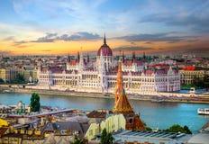Marcos em Budapest imagem de stock