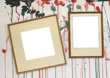 Marcos en blanco con el fondo salpicado Imagen de archivo libre de regalías