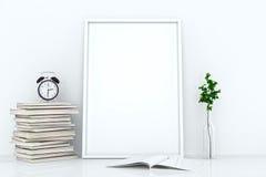 Marcos en blanco contra la pared Fotografía de archivo