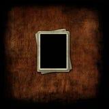 Marcos en blanco de la foto en fondo del grunge Imágenes de archivo libres de regalías