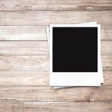 Marcos en blanco de la foto y espacio libre en lado izquierdo Fotografía de archivo