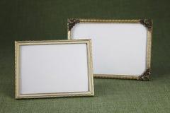 Marcos en blanco, oro Fotos de archivo libres de regalías