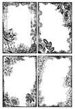Marcos florales bohemios Imagen de archivo libre de regalías