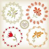 Marcos florales de la colección. Imágenes de archivo libres de regalías