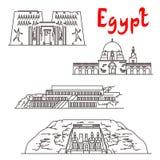 Marcos históricos e sightseeings de Egito Fotografia de Stock Royalty Free