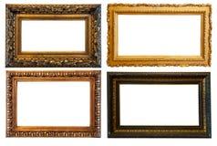 Marcos horizontales del oro Fotos de archivo libres de regalías